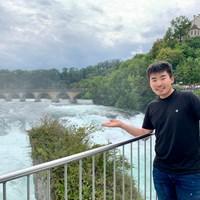 スイスのライン滝で。今週は台湾でプレーします 2019年 Yeangderトーナメントプレーヤーズ選手権 事前 川村昌弘