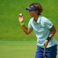 9番ではイーグルを決めるなどしたが、34位タイスタート。 2019年 ゴルフ5レディス プロゴルフトーナメント 初日 穴井詩