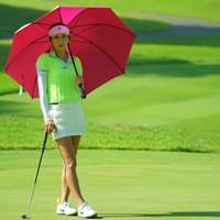 ゾクっとするカメラ目線。 2019年 ゴルフ5レディス プロゴルフトーナメント 初日 金田久美子