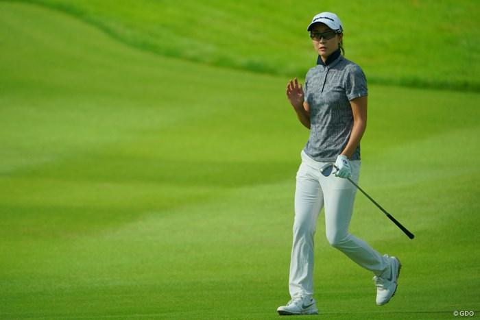 67をマークするナイスラウンドで9位タイに急浮上です。 2019年 ゴルフ5レディス プロゴルフトーナメント 2日目 ジョン・ジェウン