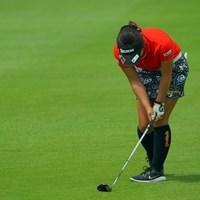 意外と感情を表に出すんですね。 2019年 ゴルフ5レディス プロゴルフトーナメント 2日目 浅井咲希