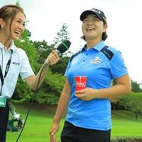 インタビューでようやく笑顔爆発! 2019年 ゴルフ5レディス プロゴルフトーナメント 最終日 イ・ミニョン
