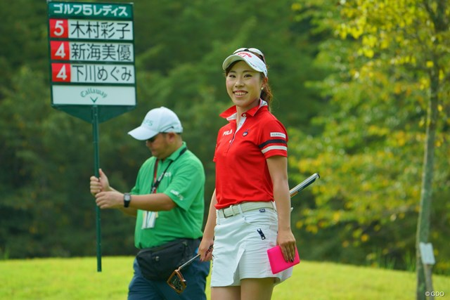 木村彩子は出入りの激しいゴルフで「69」