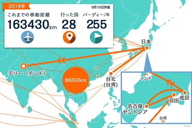 台湾から一時帰国して、成田からの直行便でインドへ