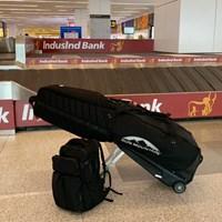 キャディバッグとバックパックがひとつ。これが川村昌弘の遠征用具のすべて 2019年 クラシックG&CC インターナショナル選手権 事前 川村昌弘の遠征用具