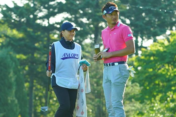キャディさんは中田美枝プロ?久しぶりです! 2019年 ANAオープンゴルフトーナメント 初日 中里光之介