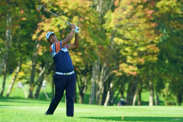 ウェアも秋っぽくなってきたね。 2019年 ANAオープンゴルフトーナメント 初日 出水田大二郎