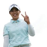 はい、ピースってね 2019年 日本女子プロ選手権大会コニカミノルタ杯 初日 田中瑞希