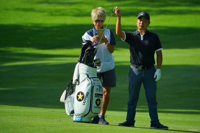 まだ目の前で優勝を見たことがないので、今週お願いします! 2019年 ANAオープンゴルフトーナメント 2日目 時松隆光