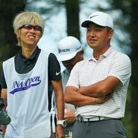 ゲンちゃん、リラックス中。 2019年 ANAオープンゴルフトーナメント 3日目 時松隆光