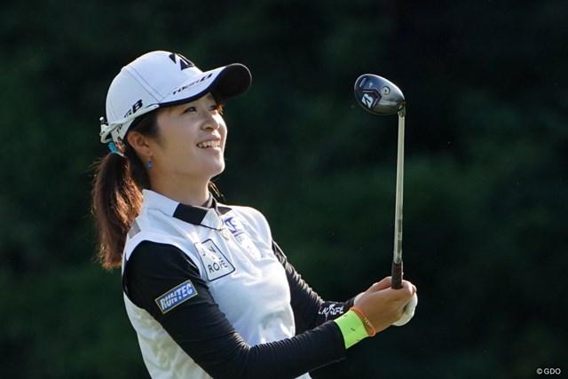 2019年 日本女子プロ選手権大会コニカミノルタ杯 3日目 三ヶ島かな ショットに満足?