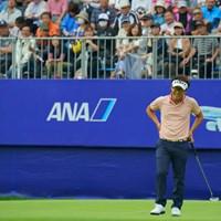 18番、バーディは奪えず、なかなか抜け出せない。 2019年 ANAオープンゴルフトーナメント 最終日 浅地洋佑