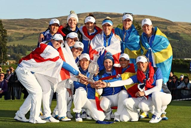 3大会ぶりに優勝を飾った欧州選抜(Jamie Squire/Getty Images)