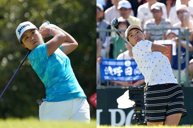 畑岡奈紗(左)と渋野日向子が日本勢の基準になる?