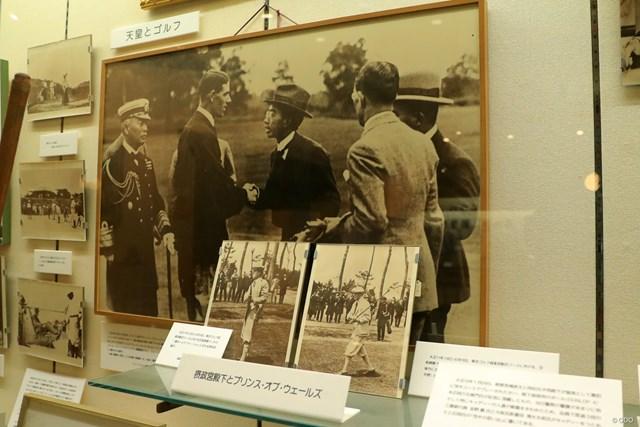 JGAゴルフミュージアム 昭和天皇 昭和天皇は皇太子時代に親善ゴルフも行った