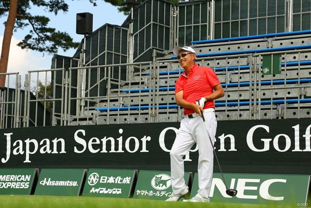 日本シニアオープン開幕前日に練習ラウンドを行った谷口徹