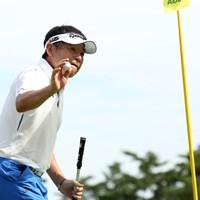 18番で2打目をピンそば20㎝につけるバーディ 2019年 日本シニアオープンゴルフ選手権競技 初日 尾崎直道