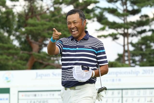 2019年 日本シニアオープンゴルフ選手権競技 初日 清水洋一 清水洋一は地元・日高市出身のプロ。初勝利を狙う