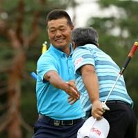 63歳の伊藤正己は「67」をマークした 2019年 日本シニアオープンゴルフ選手権競技 3日目 伊藤正己