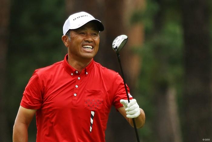地元・日高出身の清水洋一。いつも笑顔 2019年 日本シニアオープンゴルフ選手権競技 3日目 清水洋一