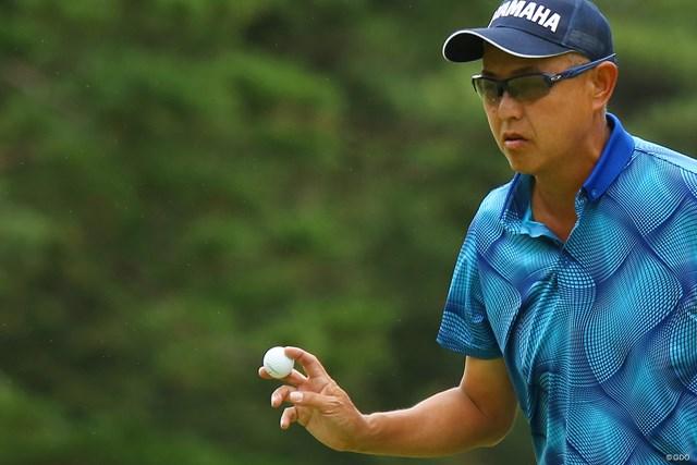 2019年 日本シニアオープンゴルフ選手権競技 3日目 谷口徹 谷口徹は首位のまま最終日を迎える
