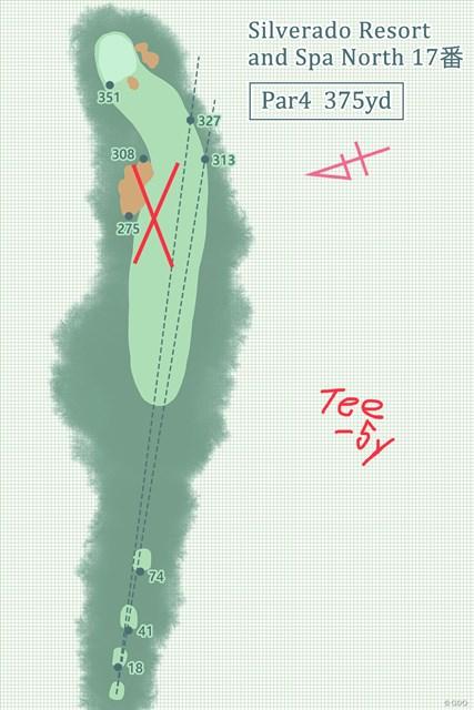 左サイドのショートカットは危険を伴う短いパー4