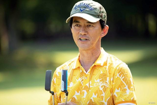 「流行に合わせてストロークの意識も変えていくべき」と語る鹿島田プロ