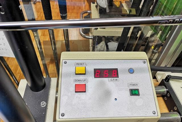 振動数は258cpmとアフターマーケット用のSとしてはかなり硬めの仕上がり