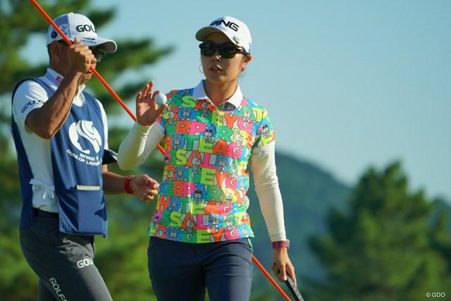 やや出入りの激しいゴルフも、最終18番のバーディで68とナイスラウンド。