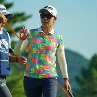 やや出入りの激しいゴルフも、最終18番のバーディで68とナイスラウンド。 2019年 ミヤギテレビ杯ダンロップ女子オープン 初日 比嘉真美子