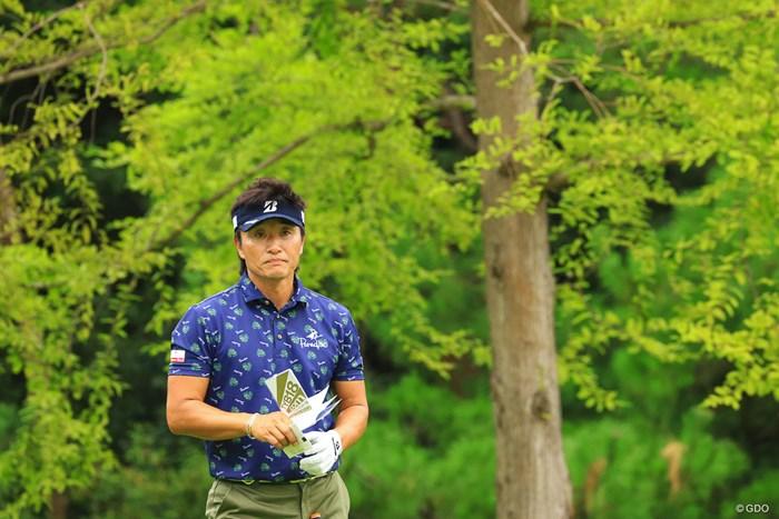 15Holeにて真剣な眼差し 2019年 パナソニックオープンゴルフチャンピオンシップ 2日目 宮本勝昌