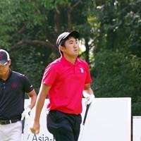5位に浮上した金谷拓実(右) 2019年 アジアパシフィックアマチュアゴルフ選手権 3日目 金谷拓実