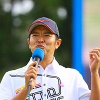 ヒーローインタビューにて明日の豊富を語る武藤プロ 2019年 パナソニックオープンゴルフチャンピオンシップ 3日目 武藤俊憲