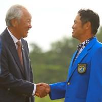 青木会長からも祝福された 2019年 パナソニックオープンゴルフチャンピオンシップ 最終日 武藤俊憲