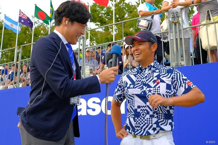 インタビューに少し瞳を潤ませる武藤さん 2019年 パナソニックオープンゴルフチャンピオンシップ 最終日 武藤俊憲