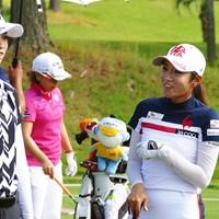 イ・ボミ(右)は結婚後も現役を続けると明言した 2019年 日本女子オープンゴルフ選手権 事前 イ・ボミ