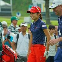 アマチュアでのメジャー制覇を是非見たいですね。 2019年 日本女子オープンゴルフ選手権 事前 安田祐香