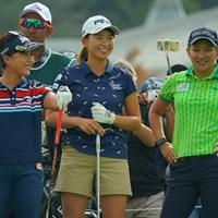 そりゃこの3人で練習ランドしたら、楽しくない訳がない。 2019年 日本女子オープンゴルフ選手権 事前 青木瀬令奈 渋野日向子 成田美寿々