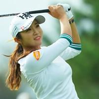 ギャラリーからも祝福されて幸せいっぱい 2019年 日本女子オープンゴルフ選手権  初日 イ・ボミ