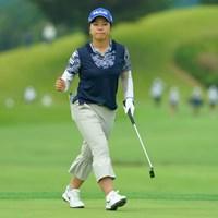 バーディ締めにガッツポーズ! 2019年 日本女子オープンゴルフ選手権 初日 下川めぐみ