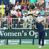 スタートホールではティショットをミス。今日は厳しいのかと思ったら首位タイスタートですから。 2019年 日本女子オープンゴルフ選手権 初日 岡山絵里