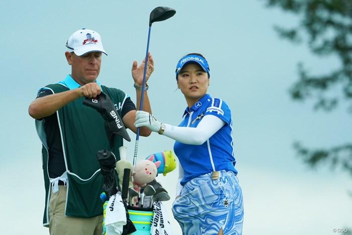 アクセル踏まずに14位タイと余裕の発進って感じです。 2019年 日本女子オープンゴルフ選手権 初日 ユ・ソヨン
