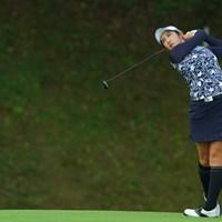 同組のハヌルと伸ばし合いましたね。 2019年 日本女子オープンゴルフ選手権 初日 ペ・ソンウ