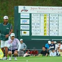 最終9番は、惜しくもバーディならず。 2019年 日本女子オープンゴルフ選手権 初日 濱田茉優