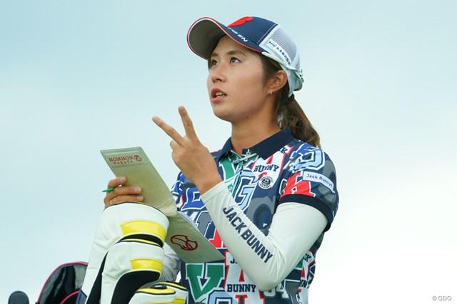 2019年 日本女子オープンゴルフ選手権 初日 大里桃子 昨日2個食べたから、あと1個残ってるはず。