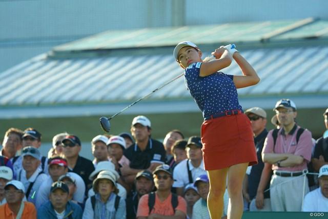 2019年 日本女子オープンゴルフ選手権 2日目 渋野日向子 渋野日向子は2日目のプレーを開始した