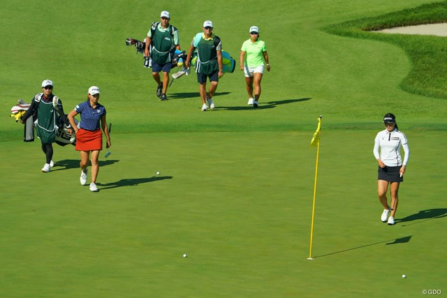 2019年 日本女子オープンゴルフ選手権 2日目 渋野日向子 畑岡奈紗 ユ・ソヨン 最注目組のラウンド。いずれも上位で予選を通過した
