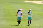 2010年 ダイキンオーキッドレディスゴルフトーナメント初日 宮里藍&横峯さくら