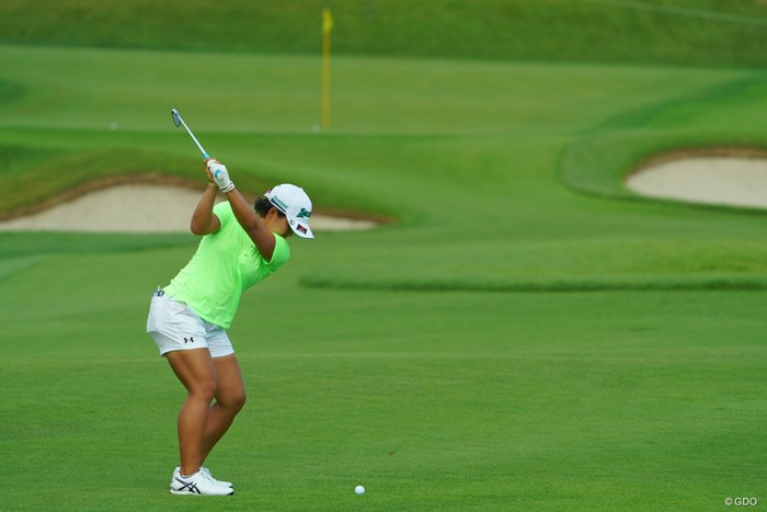 こんな綺麗なスイングになりたいよ。 2019年 日本女子オープンゴルフ選手権 2日目 畑岡奈紗