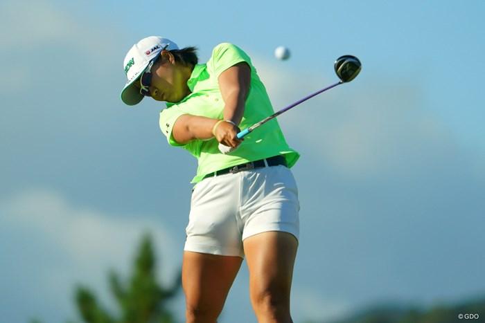 11番ティショットはきっちり刻んで。 2019年 日本女子オープンゴルフ選手権 2日目 畑岡奈紗